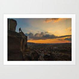 Amazing hike (sunset) Art Print