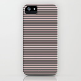Pink and Gray Pin Stripe iPhone Case