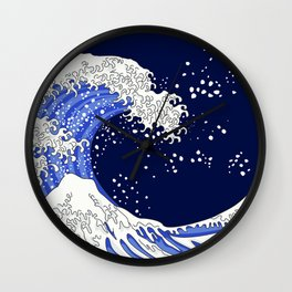 Great Blue Wave Wall Clock