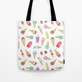 Scattered Ice Creams and Ice Lollies Tote Bag