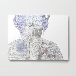 White Noise Metal Print