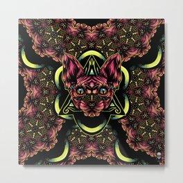 Sphynx floral color Metal Print