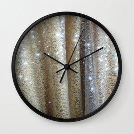 Champagne Glitters Wall Clock