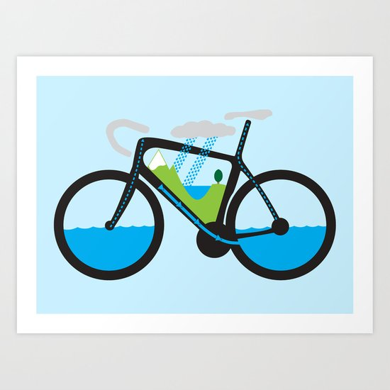 The Water Cycle Art Print