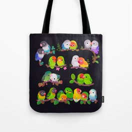 Lovebird - dark Tote Bag