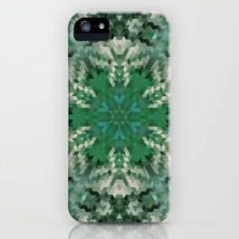 Green mandala  2 iPhone Case