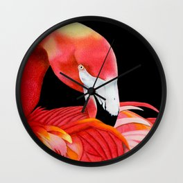 Flamingo Portrait Wall Clock