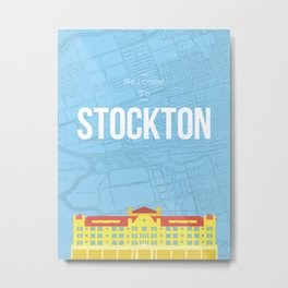 Hotel Stockton Metal Print