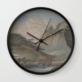 Chinese Landscape Painting Wall Clock