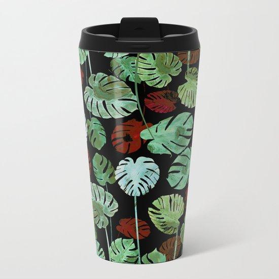 tropical contrast Metal Travel Mug
