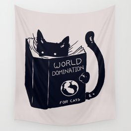 World Domination For Cats Wall Tapestry
