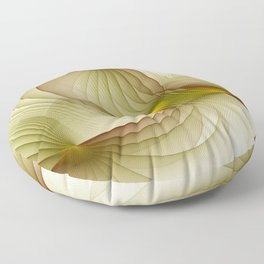 Precious Metal, Abstract Fractal Art Floor Pillow