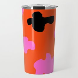 Grell 003 / A Dazzling 70's Pattern Of Black & Pink Spots Travel Mug