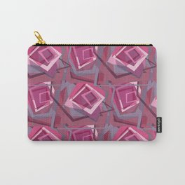 Unravelled Pink and Grey Carry-All Pouch