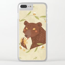 Whoops! - Bear - Clear iPhone Case