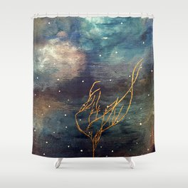 Emote Peace Shower Curtain