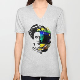 Ayrton Senna do Brasil - White & Color Series #4 Unisex V-Neck