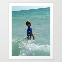 Joy of the surf Art Print