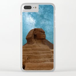 Sphinx and Pyramids, Egypt Clear iPhone Case