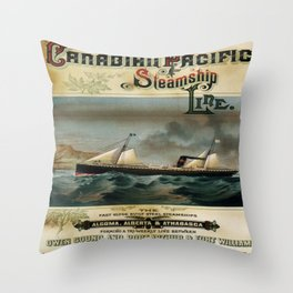 Vintage poster - Canadian Pacific Throw Pillow