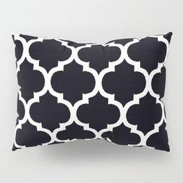 Moroccan Black and White Lattice Moroccan Pattern Pillow Sham