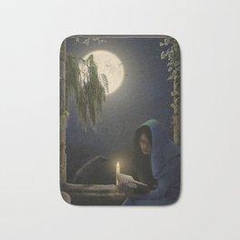 Reading in the moonlight Bath Mat