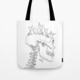 Blackbird Hatchlings in a Skull Tote Bag