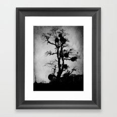 Deep Into That Darkness Framed Art Print