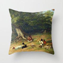 Cornelius Krieghoff Midday Rest Throw Pillow