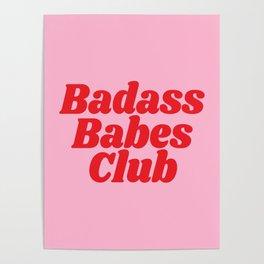 Badass Babes Club Poster