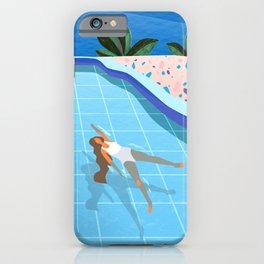 Girl at pool iPhone Case