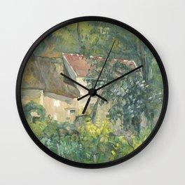 Paul Cézanne - House of Père Lacroix Wall Clock
