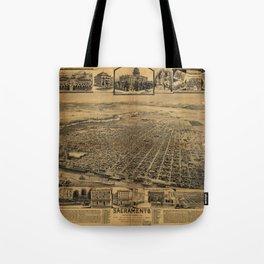 Aerial View of Sacramento, California (circa 1890) Tote Bag