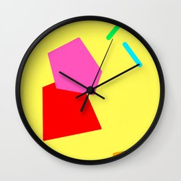Minimal Abstract Modern Scandinavian Design Colorful Pop Wall Clock