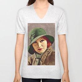 Greta Garbo, Hollywood Legend Unisex V-Neck