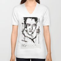 elvis presley V-neck T-shirts featuring Elvis Presley by Tom Melsen