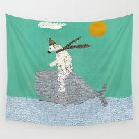 sailing Wall Tapestries featuring sailing by bri.buckley