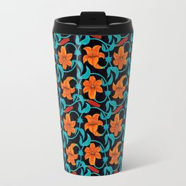 Pattern with lilies Travel Mug