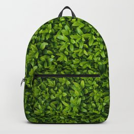 Green Leaves Pattern Backpack