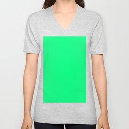 color spring green Unisex V-Neck
