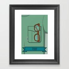 Pockets - The Hipster - Framed Art Print