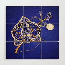 Egyptian Blue :: Orchid Wood Wall Art