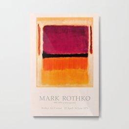 Mark Rothko Exhibition poster 1979 Metal Print