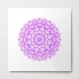 Mandala 12 / 1 eden spirit pink Metal Print