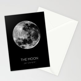 THE MOON - La lune Stationery Cards
