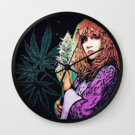 Stevie Nicks Tribute Mural: Wouldn't You Love to Love Her // Music Women Rock and Roll Fleetwood Wall Clock