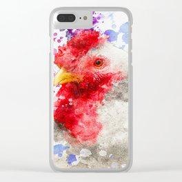 Watercolor Chicken, Chicken Painting, Chicken Decor, Chicken Art, Chicken Design, Hen Clear iPhone Case