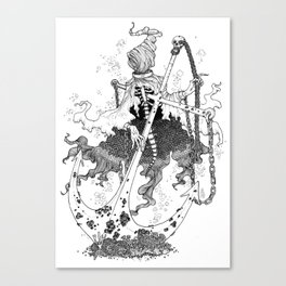 Underwater shackled wraith Canvas Print