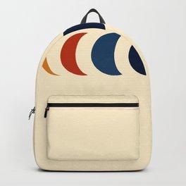 Abstract Minimal Retro Style Moon Phase - Azuma Backpack