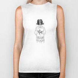 girl gang (black & white) Biker Tank